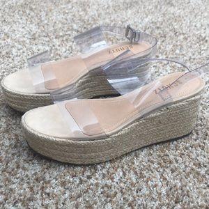 NIB SCHUTZ clear platform sandal